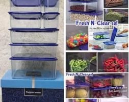 Tupperware Fresh N' Clear Set